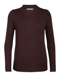 Icebreaker Waypoint Crewe Sweater Damen rot