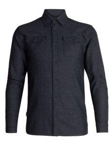 Icebreaker Lodge LS Flannel Shirt Herren grau