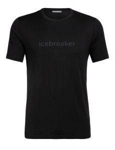 Icebreaker Tech Lite SS Crewe  Icebreaker Wordmark schwarz