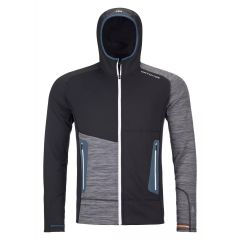 Ortovox FLEECE LIGHT HOODY Herren schwarz