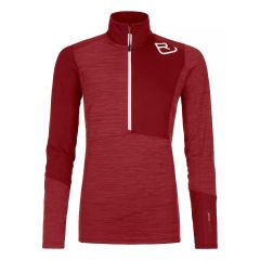 Ortovox Fleece Light Zip Neck Damen rot