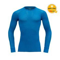 Devold WOOL MESH LS Shirt Herren blau
