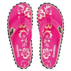 Gumbies Islander Damen pink hibiskus