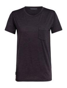 Icebreaker Nature Dye Drayden SS Pocket Crewe T-Shirt Damen braun