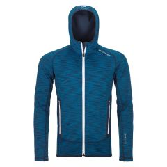 Ortovox FLEECE SPACE DYED HOODY Herren blau