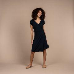 Sherpa Padma Wrap Dress Damen schwarz