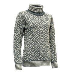Devold SVALBARD SWEATER HIGH NECK Damen grau