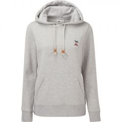 TenTree Palm Sunset Embroidery Hoodie Damen grau