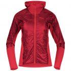 Bergans Cecilie Light Insulated Hybrid Jacket Damen rot