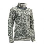 Devold SVALBARD SWEATER HIGH NECK Damen grau