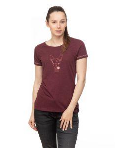 Chillaz Gandia Happy Alpaca T-Shirt Damen rot