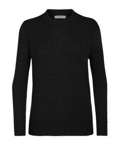 Icebreaker Waypoint Crewe Sweater Damen schwarz