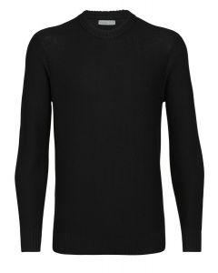 Icebreaker Waypoint Crewe Sweater Herren schwarz