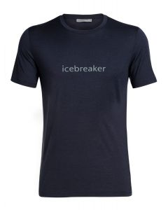 Icebreaker Tech Lite SS Crewe  Icebreaker Wordmark blau