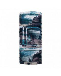 Buff COOLNET UV+ Multifunktionstuch blau gemustert