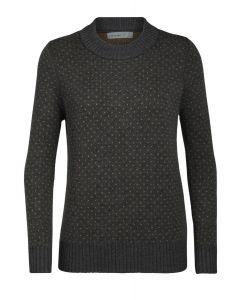 Icebreaker Waypoint Crewe Sweater Damen grau